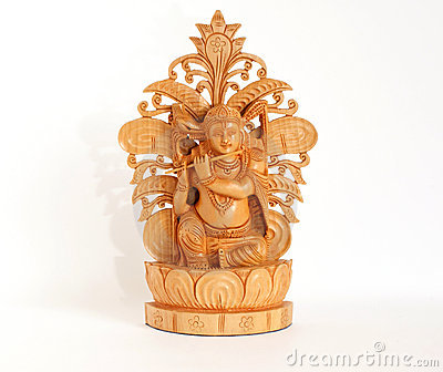 Wooden figure of God, souvenir gift, India