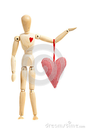 Free Wooden Figure With Heart Stock Photos - 30648673