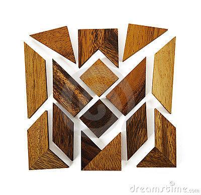 Free Wooden Figures Assemble In Square Puzzle Royalty Free Stock Image - 16674876