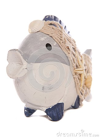 Wooden fish ornament