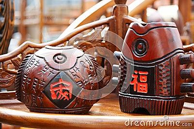 Wooden fish statuary