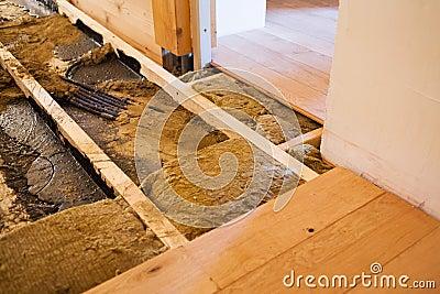 Wooden floor constructing