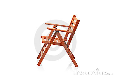 Wooden Folding Beach Chair Royalty Free Stock Photo - Image: 18959035