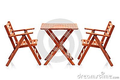 Wooden folding beach furniture