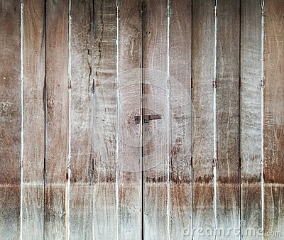Wooden folding door Stock Photo