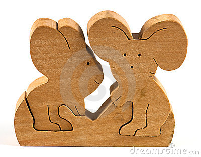 Wooden folding toy