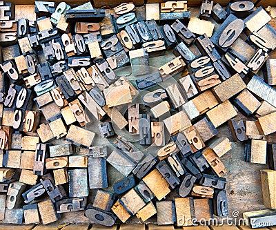 Wooden fonts
