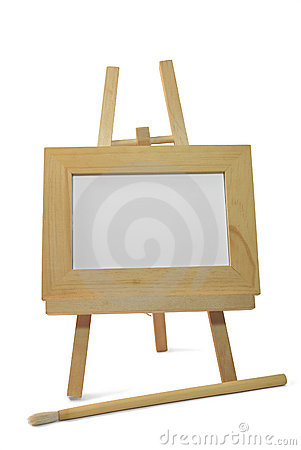 frame on wooden easel stock photo image 40601992