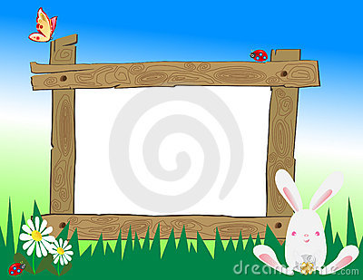Wooden Frame in Field