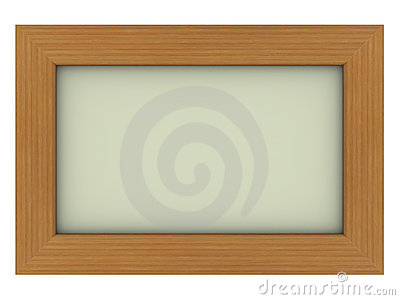 Wooden frame with gray background