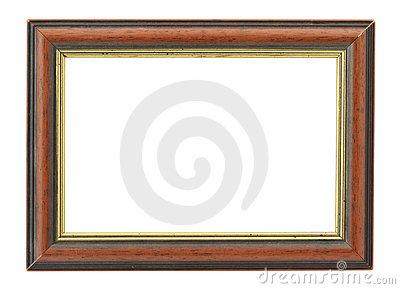 Wooden frame with an inner gilded rim
