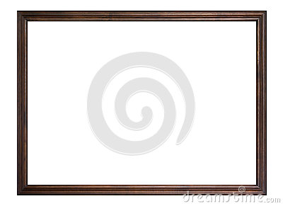Wooden frame isolated