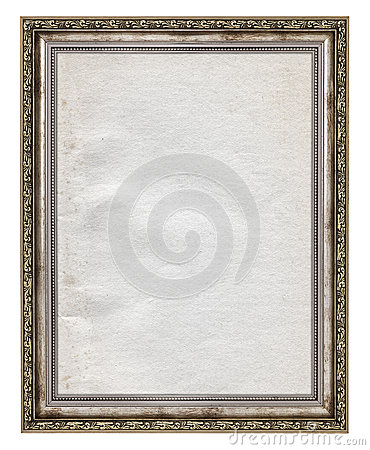 Free Wooden Frame With Stained Paper Interior Royalty Free Stock Image - 32315356