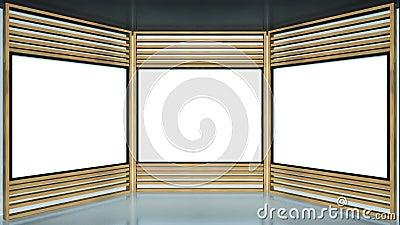Wooden Framed TV Studio
