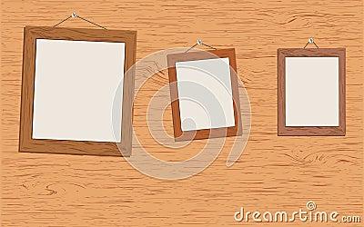 Wooden frames for portraits.