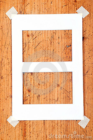 Wooden frames stationery message