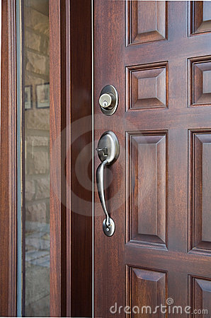 Free Wooden Front Door Stock Image - 8638721