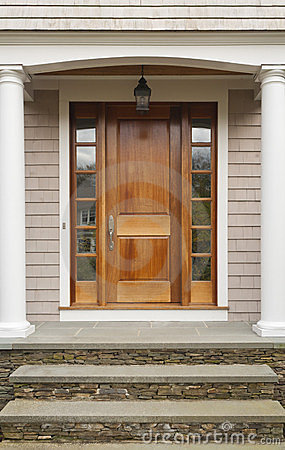 Free Wooden Front Door Home Stock Photos - 23406093