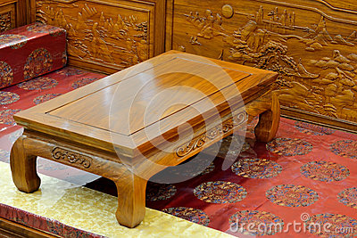 Wooden furniture in oriental style