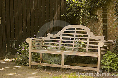 Wooden Garden Bench Stock Image - Image: 5600241