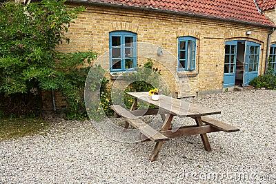 Wooden garden furniture - taking a rest