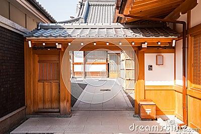 Wooden gate, Japnese style