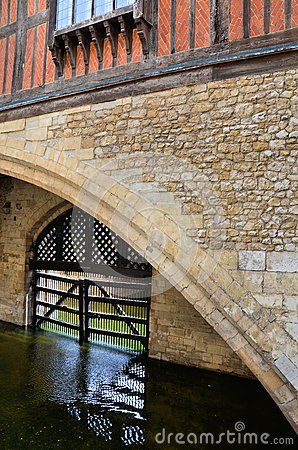 Wooden gate that protects a ditch in the Tower of