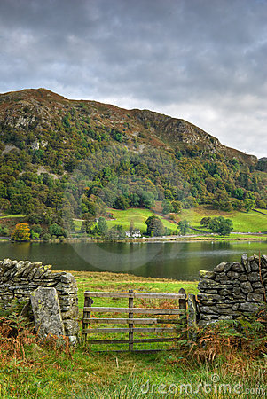 Wooden gate by Rydal Water