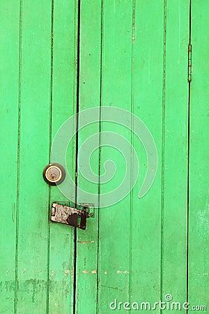 Wooden gate from teak