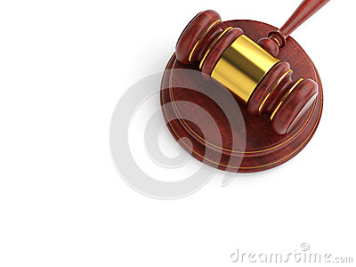 Wooden gavel template illustration