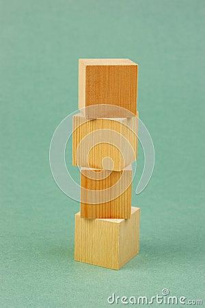 Free Wooden Geometric Cube Stock Image - 124509021