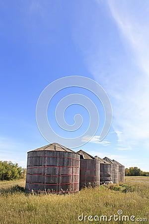 Wooden Grain Storage Bins