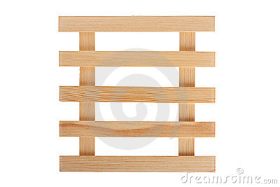 Wooden grating