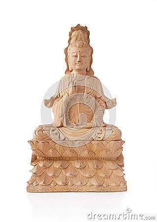 Wooden Guan Yin Statue