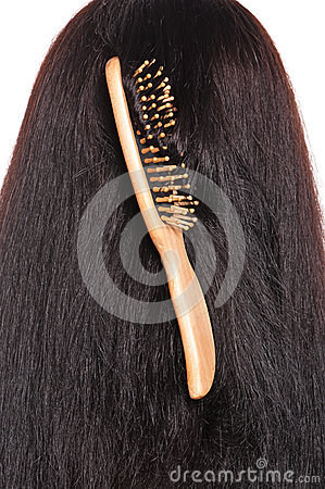 Wooden hairbrush