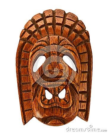Free Wooden Hawaiian Mask Stock Photography - 22192612
