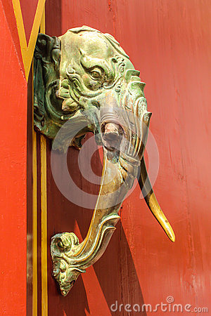 http://www.dreamstime.com/stock-photography-wooden-head-elephant-image35262422
