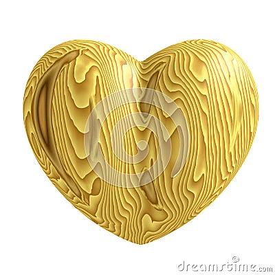 Wooden heart symbol