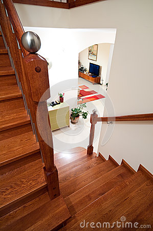 Wooden home stairs