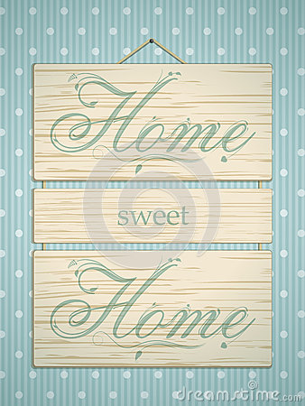 Free Wooden Home Sweet Home Sign Royalty Free Stock Images - 28640439
