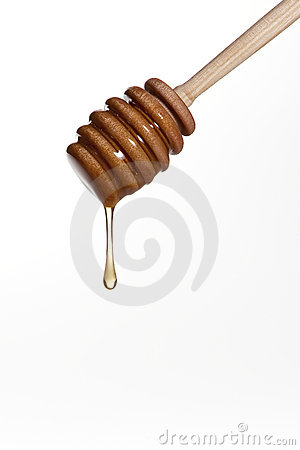Free Wooden Honey Drizzler Royalty Free Stock Photo - 15464555