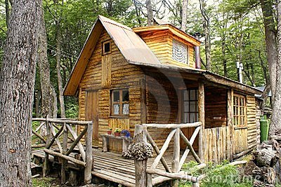 Wooden house in Patagonia
