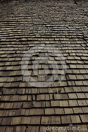 Wooden house roof