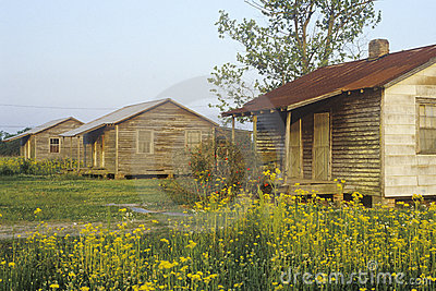 Wooden house slaves quarters Editorial Photography