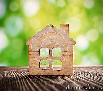 Wooden house symbol