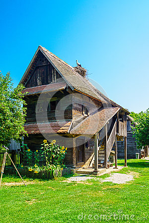 Free Wooden House, With Storks, Croatia Royalty Free Stock Images - 57579269