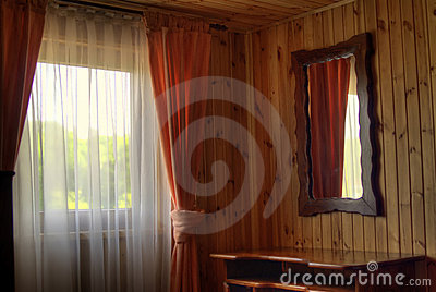 Wooden hut window