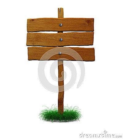 Wooden index sign