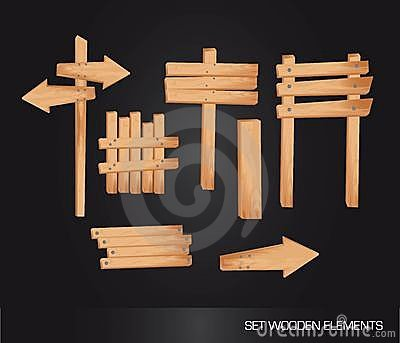 Wooden indication