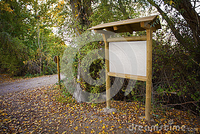 Wooden information panel